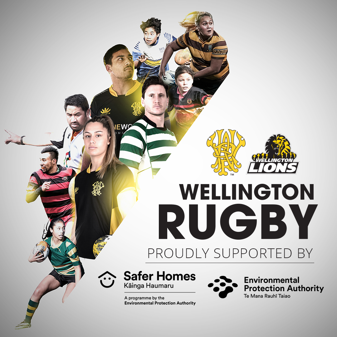Wellington Rugby partnership poster